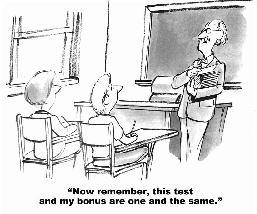 editorial-cartoon-of-teachers-bonus-tied-to-test-scores