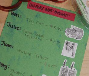 Real World Math: Holiday Gift Budget